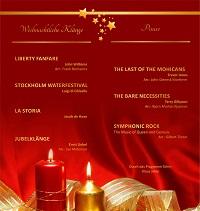 Weihnachtskonzert 2016 Programm